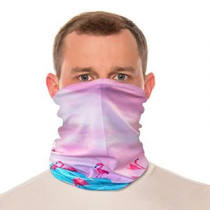 flamingo neck gaiter