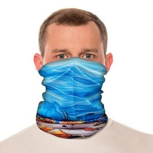 "Sea Turtle Neck Gaiter / Beach Balaclava - 18"" Long Microfiber Polyester 2"