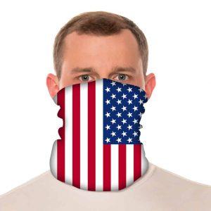 "American Flag Neck Gaiter / Beach Balaclava - 18"" Long Microfiber Polyester 1"