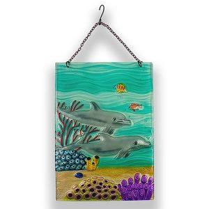 Dolphin Paradise Glass Suncatcher 1