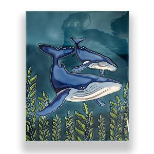 Gorgeous Humpback Whale Tile Art Wall Hanging 1