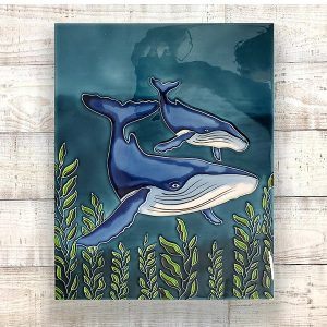 Gorgeous Humpback Whale Tile Art Wall Hanging 2