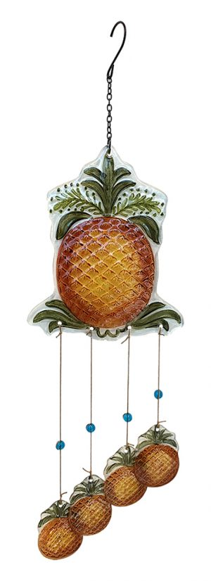 glass pineapple wind chime