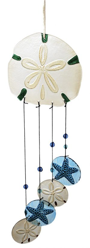 glass sand dollar wind chime