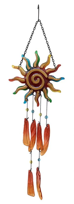 glass sun wind chime