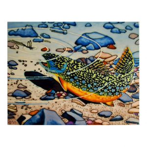 Fabulous Brook Trout Tile Art Wall Hanging 1