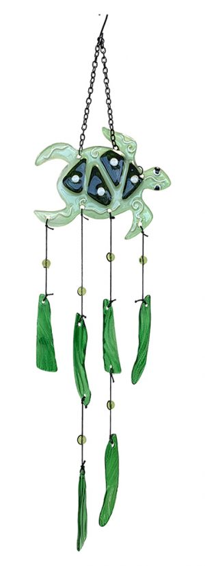 glass turtle wind chime