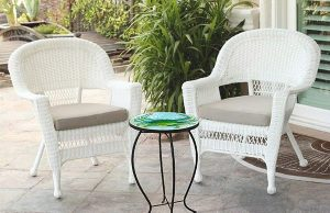 """Blue Crab Glass Side Table - 12"""" Diameter Top 4"""