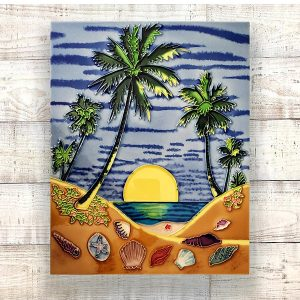 Magnificent Palm Tree Tile Art Wall Hanging 2