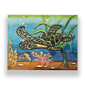 Dazzling Sea Turtle Tile Art Wall Hanging 1