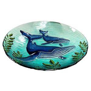 "Whale Glass Bowl - 18"" 2"