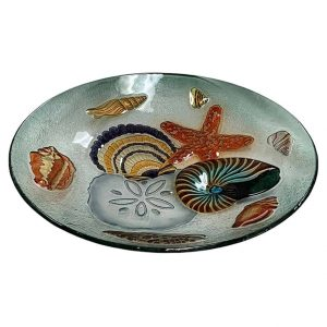"Seashell Medley Glass Bowl - 18"" 2"