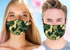 Camo Face Mask w/ Melt Blown Filter 2