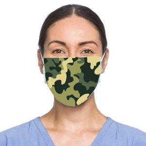 Camo Facemask w/ Melt Blown Filter 2