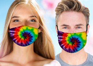 Hippy Tie Dye Face Mask w/ Melt Blown Filter 1