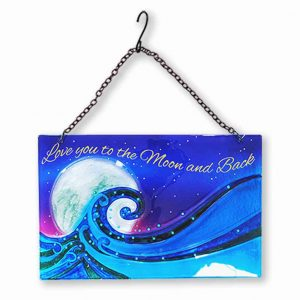 Marvelous Ocean Moon Glass Suncatcher 1
