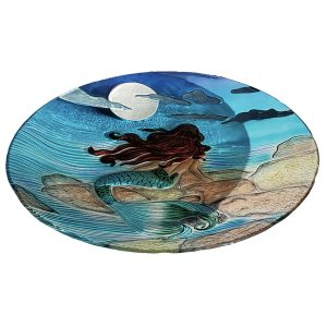 "Moonlight Mermaid Glass Bowl - 18"" 2"