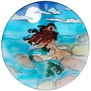 "Moonlight Mermaid Glass Bowl - 18"" 1"