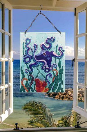 Amazing Octopus Glass Suncatcher 2