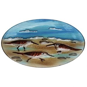 "Sand Piper Glass Bowl - 18"" 2"