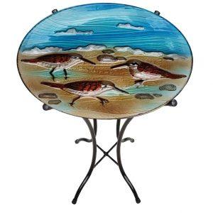 "Sand Piper Glass Bowl - 18"" 4"