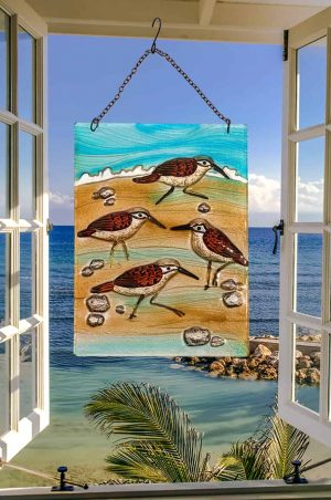 Sensational Sandpiper Glass Suncatcher 2