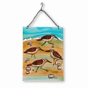 Sensational Sandpiper Glass Suncatcher 1