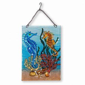 Splendid Seahorse Glass Suncatcher 1