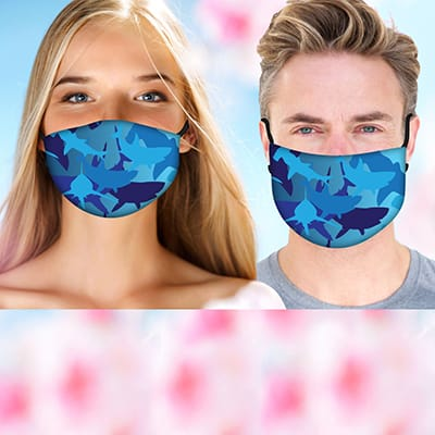 Printed cloth facemask with filter