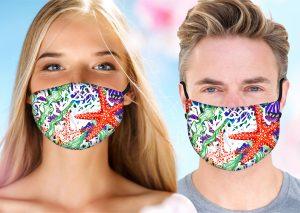 Starfish Pattern Face Mask w/ Melt Blown Filter 3