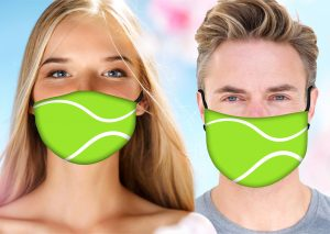 Tennis Face Mask w/ Melt Blown Filter - Add Your Name 2