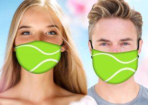 Tennis Face Mask w/ Melt Blown Filter - No Name 2
