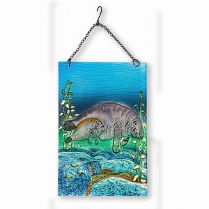 Magnificent Manatee Glass Suncatcher 1