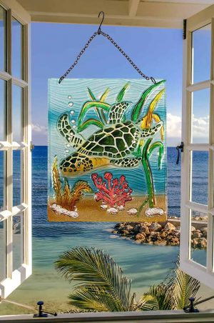 Sublime Sea Turtle Glass Suncatcher 2