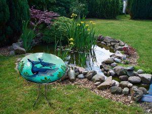"Whale Glass Bowl - 18"" 3"