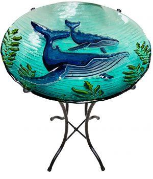 "Whale Glass Bowl - 18"" 4"