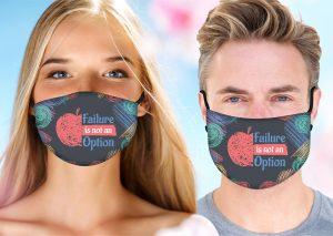 Failure is Not an Option Face Mask w/ Melt Blown Filter 2
