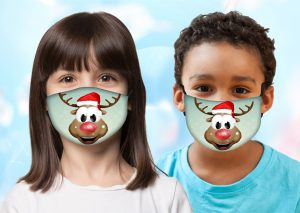 Kids Rudolph Facemask w/ Melt Blown Filter 1