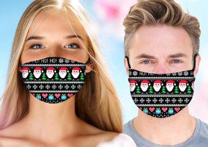 Ho Ho Ho Santa Mask w/ Melt Blown Filter 2