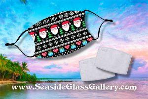 Ho Ho Ho Santa Mask w/ Melt Blown Filter 1