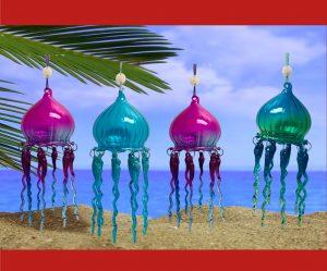 jellyfish glass Christmas ornament