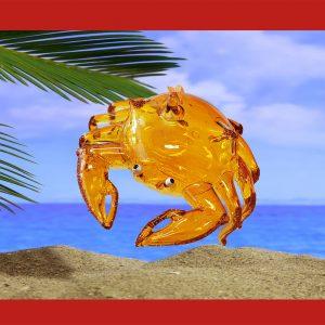 glass crab christmas ornament