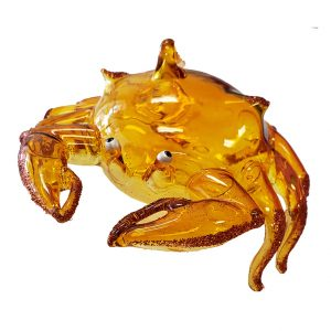 Delightful Glass Crab Christmas Ornament (Yellow) 1