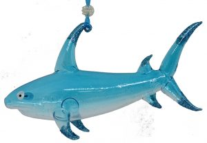 glass shark Christmas ornament