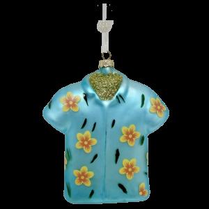 Amazing Glass Hawaiian Shirt Christmas Ornament (blue) 1