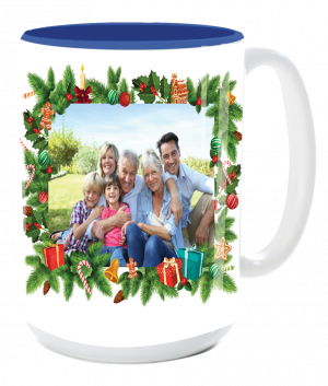 custom christmas photo mug
