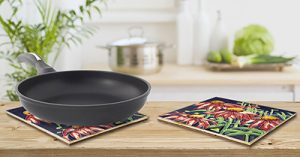 Coneflower Tile Trivet 3
