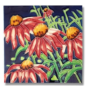 Coneflower Tile Trivet 1