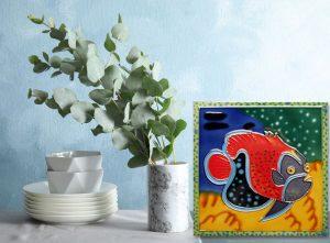 Lg Clownfish Tile Trivet 2