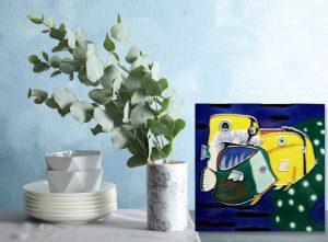 Fish Trio Tile Trivet 2